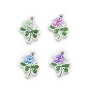 30pcs Flower Wood Buttons Sewing Scrapbooking Clothing Headwear Decor 30x24mm