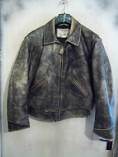 VINTAGE CHEVIGNON DISTRESSED LEATHER MOTORCYCLE JACKET SIZE XL