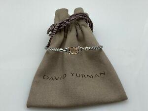 David Yurman Petite Wheaton Bracelet with Morganite and Diamonds