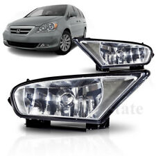 For 05-07 Honda Odyssey Clear Fog Lights Bumper Lamps Left & Right Switch +Bulbs