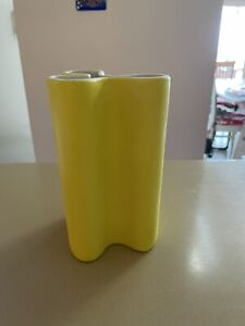 "CB2 PETAL VASE**POLLEN(YELLOW)**6 1/2"" x 3""**NEW"