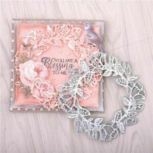 Die Cuts Wreath Metal Cutting Dies Stencil Scrapbook Embossing Paper Craft Decor
