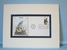 State Bird & Flower of Arizona - Cactus Wren & Cactus Blossom & First Day Cover