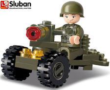 Sluban Kids Boys Toy Military Building Brick Set B0118 Army Gun Soldier Figure