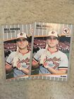 1989 Fleer Billy Ripken FF Black Box Lot Of 2 Error Baltimore