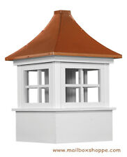"24"" Carlisle Azek Vinyl Window Cupola with Pagoda Copper Roof - Amish quality"