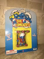 THE SMURFS FIGURE WITH BED PEYO 1996