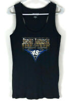 JIMMIE JOHNSON #48 Womens NASCAR For Her BLACK Racerback Tank Large New With Tag