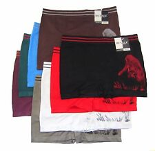 6pk Mens Seamless Boxer Briefs Short New Microfiber Underwear Muxxle #1361