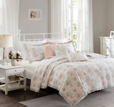 Madison Park Serendipity King/Cal King 6pc Quilt Bedding Set - Coral Floral