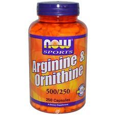 Now Foods Arginine/Ornithine, 250 caps