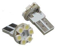 2 ampoules T10 W5W 12V à 6 LED SMD pour veilleuses feux de position clignotants