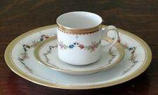 24Pc Bavaria Tirschenreuth Porcelain Demitasse Cup - Saucer & Plate Set for 8