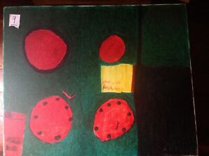 Willie White  Folk Art painting  OUTSIDER ART African-American  #9 Red Suns