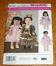 """Simplicity Sewing Pattern 8112 OS 18"""" Doll Clothes"""
