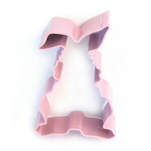 Eddingtons Pink Easter Bunny Cookie Cutter - Pastry & Biscuit Cutter Metal 9cm