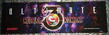 "Ultimate Mortal Kombat 3 Arcade Marquee 26""x8"""