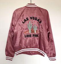Sz S Victorias Secret Pink Las Vegas Cactus  Begonia Bomber Jacket NIP