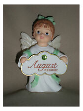 BIRTHSTONE ANGEL FIGURINE - AUGUST - PERIDOT  - JEANE'S THINGS