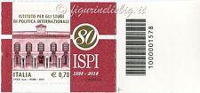 2014 francobollo ISPI Ist. Studi Politica Internazionale SX CODICE A BARRE 1578