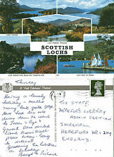 1980's SCOTTISH LOCHS MULTI VIEWS SCOTLAND COLOUR POSTCARD