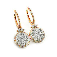 Ohrringe Diamanten 14  585er Gelbgold Creolen 2,75 Karat Top Wesselton VS Neu