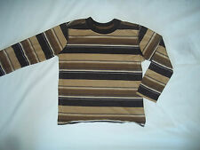 OLD NAVY MULTI-STRIPE BROWN L/S PULLOVER SHIRT SIZE 5T