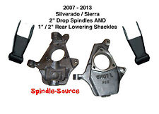 """2007 - 2013 Silverado Sierra 2"""" Spindles AND 1"""" / 2"""" Rear Lowering Shackles 2-2"""""""