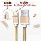2in1 8 Pin Lightning+Micro USB Sync Data Charging Cable Adapter F iPhone Samsung