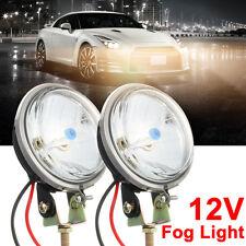 Pair 3.5'' Round Car Motorcycle Headlight Fog Driving Light Reverse Lamp 12V DC