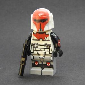 Custom Star Wars Snowtrooper arms pair minifigures on lego bricks