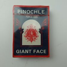 Pinochle Poker Size Giant Face Playing Cards New Sealed