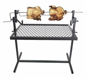 Heavy Duty Cooking Grill Rotisserie Camping Equipment Kitchen Outdoor Campfire