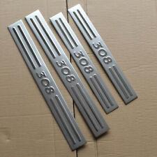 4x Battitacco cromato protezione sotto porta acciaio car sport auto Peugeot 308