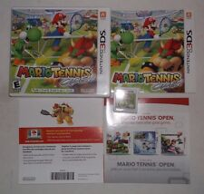 Mario Tennis Open (Nintendo 3DS, 2012) COMPLETE w/ Manual