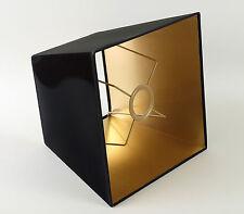 Lampenschirm Schwarz Gold für Tisch Und Stehleuchten  Eckig Quadratisch