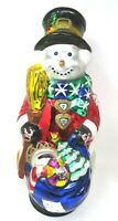 Traditions Handpainted Glass Snowman new with Box.