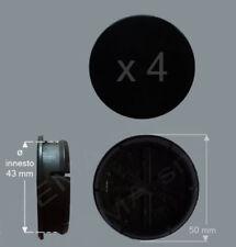 4 Borchie coprimozzo Ø 50 mm innesto 42 circa non originali per cerchi in lega