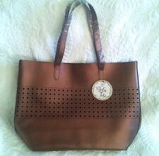 Tote Bag Large Purse Metallic Copper / Bronze Color Shopper Handbag Shoulder Bag