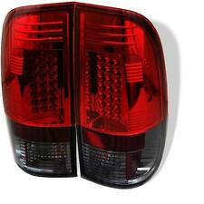 Pair LED Tail Light Ford F150 97-03 F250-550 SuperDuty 99-07 Styleside RedClear