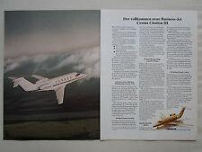 12/79 PUB CESSNA CITATION III BUSINESS JET AIRCRAFT FLUGZEUG ORIGINAL GERMAN AD