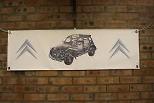 CITROEN 2cv6 Dolly grande lavoro in pvc Negozio Banner Garage mostra Banner