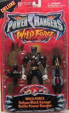 RARO SABAN 's Power Rangers Wild force-deluxe Negro Salvaje BATALLA POWER RANGER