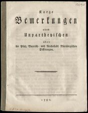 Bavière Jura palatinat Bavière litige contre les riches ville Nuremberg 1792