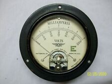 Vintage Jewell Electrical Instrument Gauges Pattern No 25 DC Milliamps and Volts