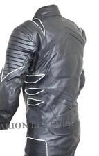 Combinaisons de motocyclette noirs en cuir pour homme taille XL