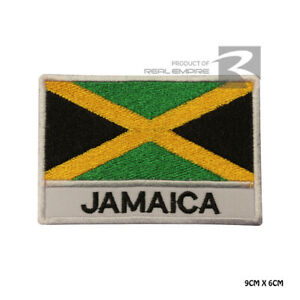 Jamaica National Flag Iron on Sew on Embroidered Patch Badge For Clothes Etc