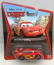 Disney PIXAR Cars 2 - Lightning McQueen with Racing Wheels Diecast Mattel