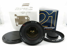 Contax Carl Zeiss Distagon T* 21mm F/2.8 MMJ Lens for CY Mount W/Hood BOXEDJapan