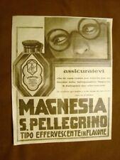 Pubblicità primi del 1900 Magnesia San Pellegrino Che non manchi mai in casa
